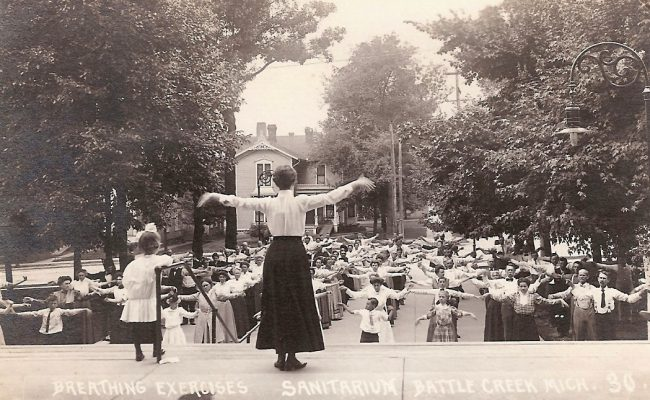Battle Creek Sanitorium, Breathing Exercises, circa 1900