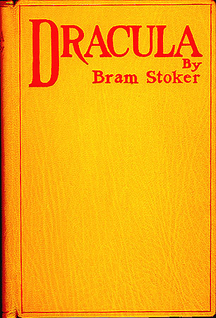 The first edition cover of Dracula