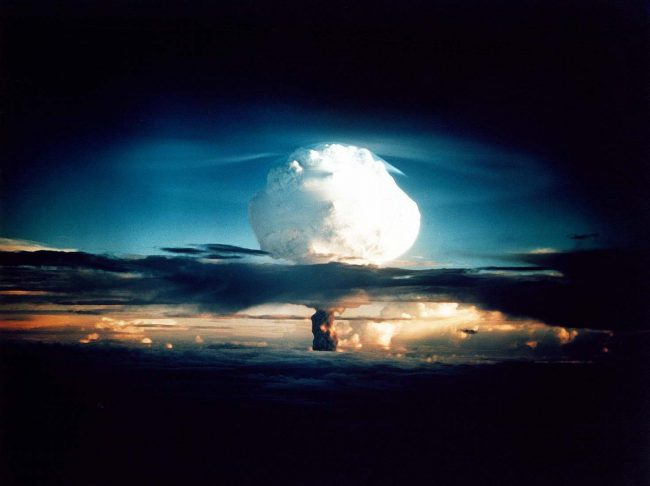 Ivy Mike, the first full test of the Teller–Ulam design (a staged fusion bomb), with a yield of 10.4 megatons on 1 November 1952