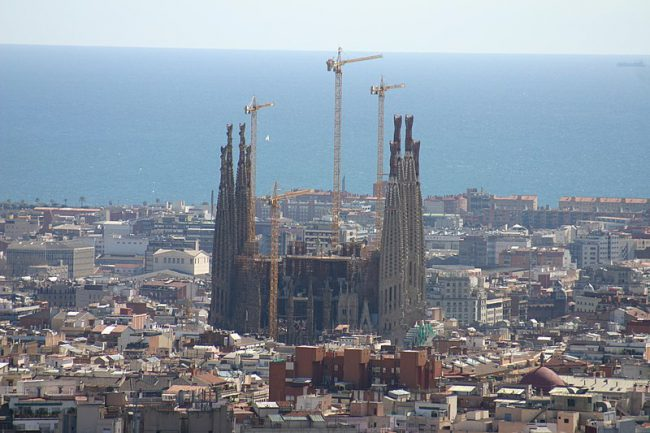 Sagrada Familia from Park Güell. Photo: Year of the dragon