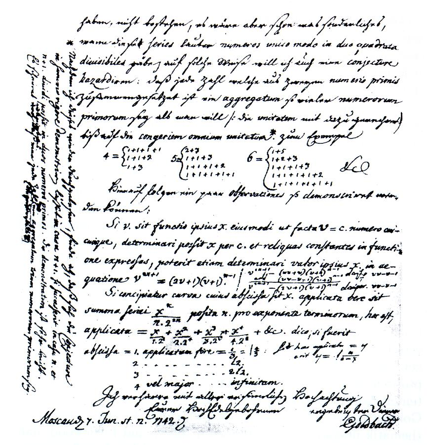 Although I Cannot Prove it - The Goldbach Conjecture