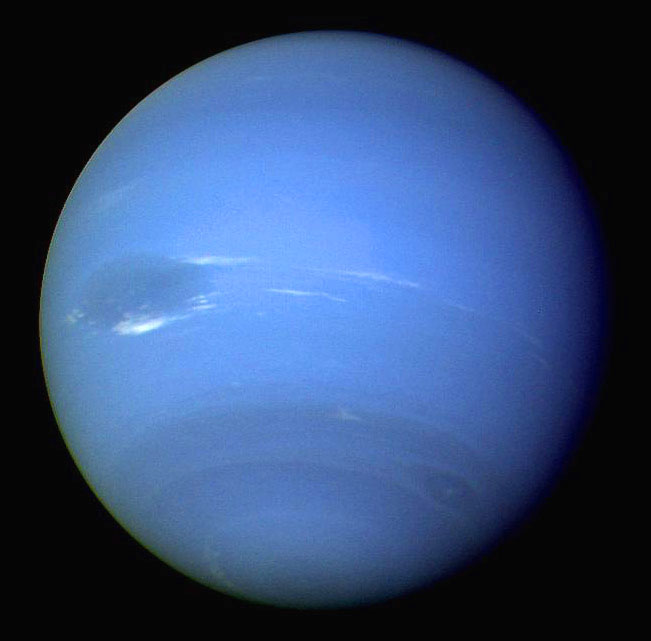 Neptune from Voyager 2 in 1989 (© NASA)