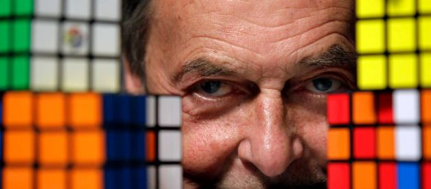 Ernő Rubik © Julio Cortez, In 1980, Rubik's Cube - started to spread all over the world, infecting the population with addiction and curiosity about its solving.