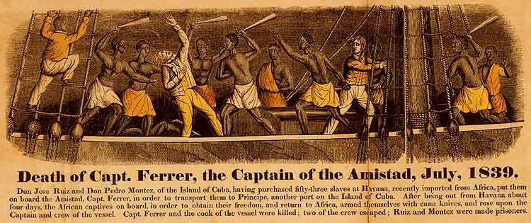 Frontispiece from John Warner Barber (1840). A History of the Amistad Captives.