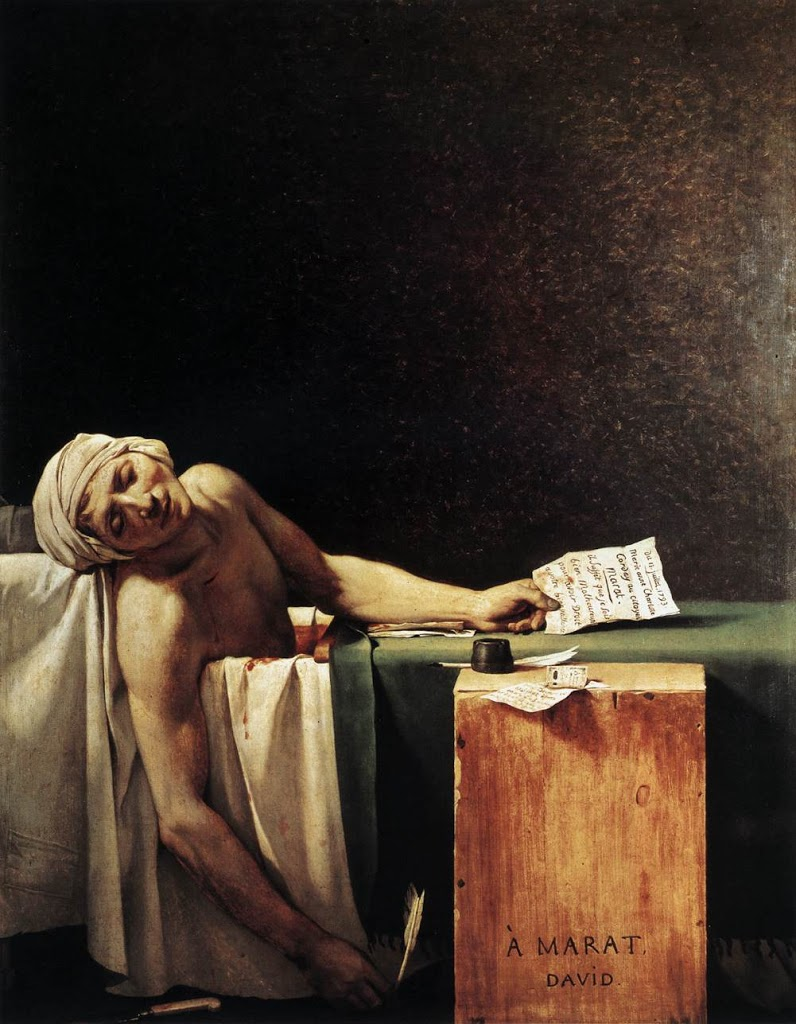 The Death of Marat by Jacques-Louis David (1793)