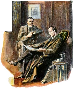 The Empty House, The Return of Sherlock Holmes, illustration by Sidney Paget 1903