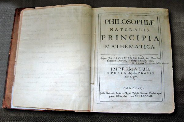 Isaac Newton's own first edition copy of his Philosophiae Naturalis Principia Mathematica with his handwritten corrections for the second edition