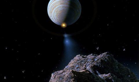 Shoemaker-Levy 9 hits Jupiter