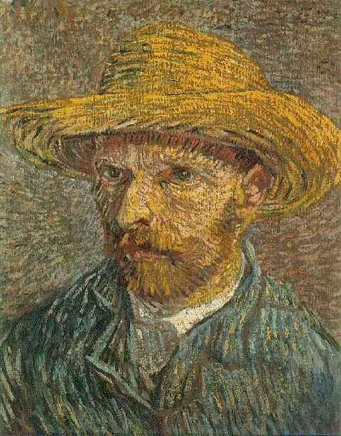 Van Gogh: Self Portrait with Straw Hat (1887/88)