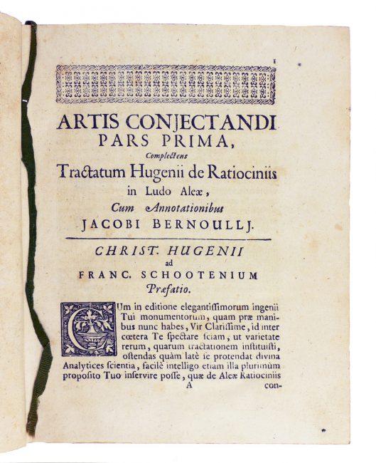 Ars conjectandi, 1713 (Milano, Fondazione Mansutti).