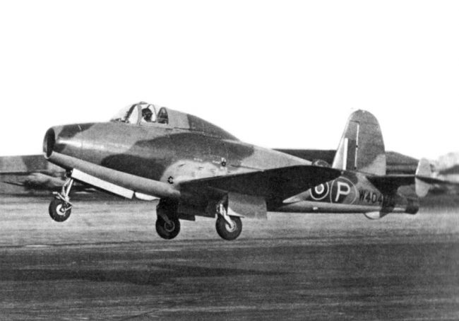 The Gloster E.28/39, the first British aircraft to fly with a turbojet engine