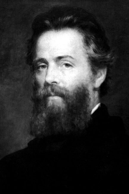 Etching of Joseph O. Eaton's portrait of Herman Melville (1819-1891)