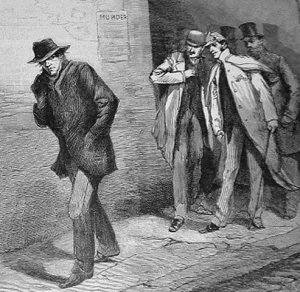 'With the Vigilance Committee in the East EndA Suspicious Character' 1888 source: Illustrated London News