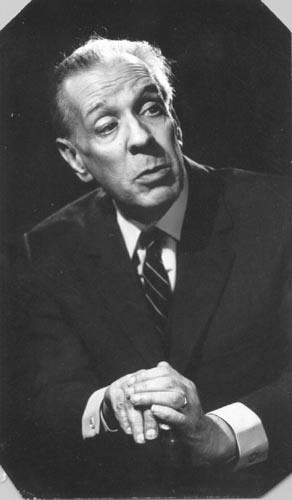 Jorge Luis Borges (1899-1986) as an Argentine short-story writer, essayist, poet and translator, and a key figure in Spanish-language literature.