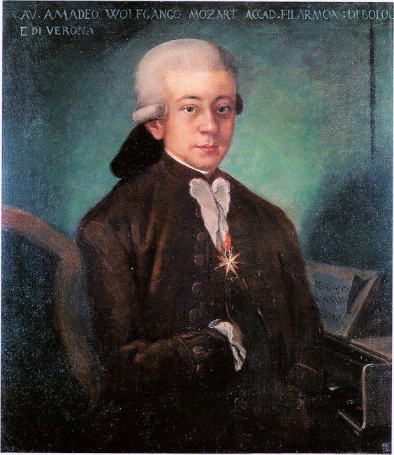 Portrait of Wolfgang Amadeus Mozart (1756-1791)
