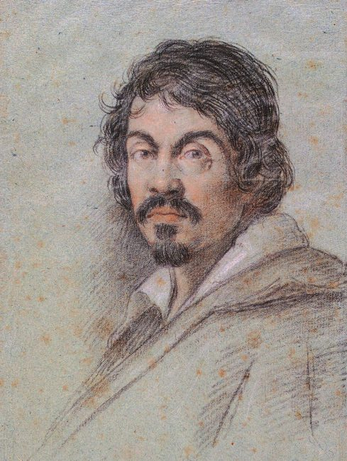 Posthumous portrait of Caravaggio by Ottavio Leoni, c. 1614, Bibliotheca Marucelliana, Florence