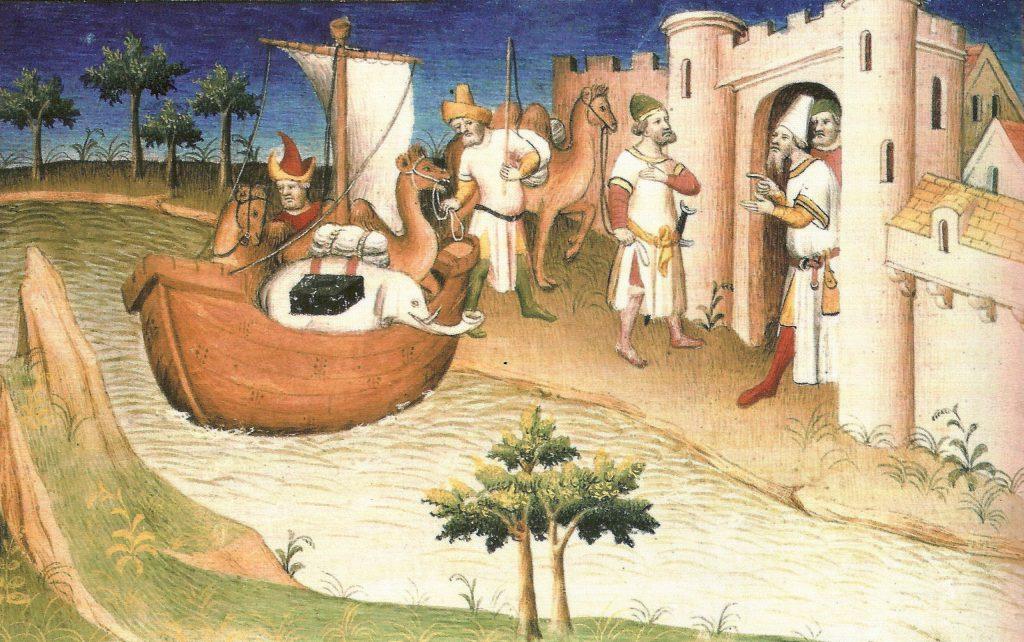 Marco Polo in China (Abbildung in dem Buch Il milione, 1298-1299)
