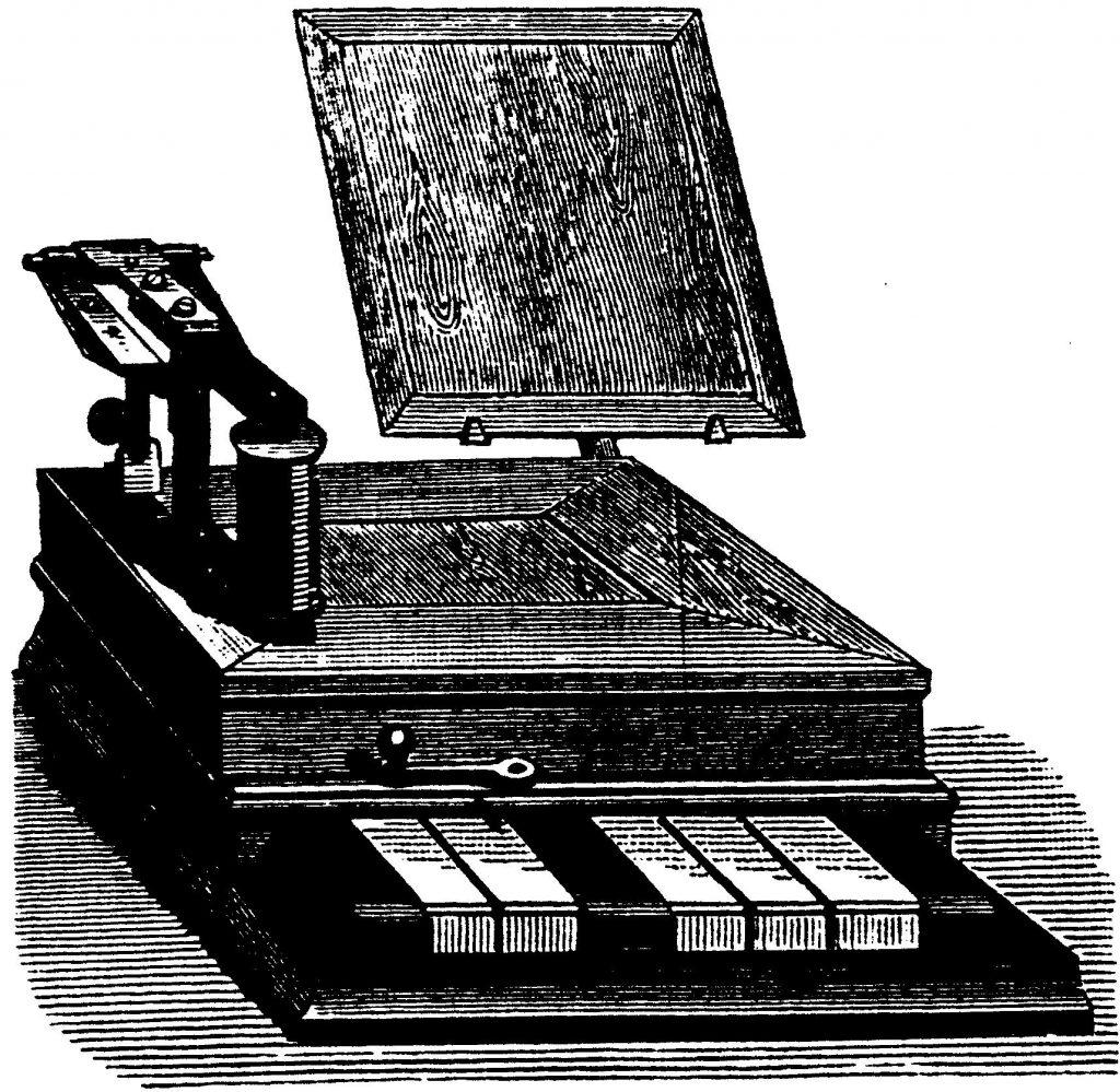 Baudot keyboard, Journal télégraphique 1884