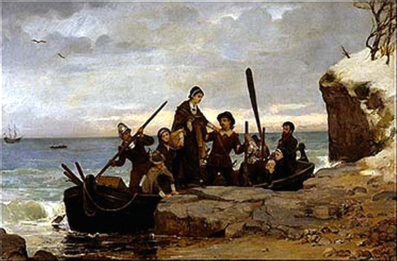 The Landing of the Pilgrims.