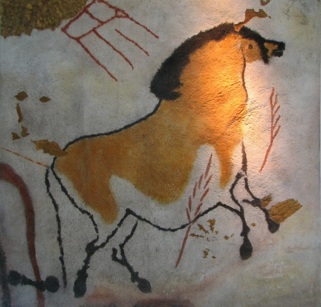 A horse from Lascaux. Replica in the Brno museum Anthropos