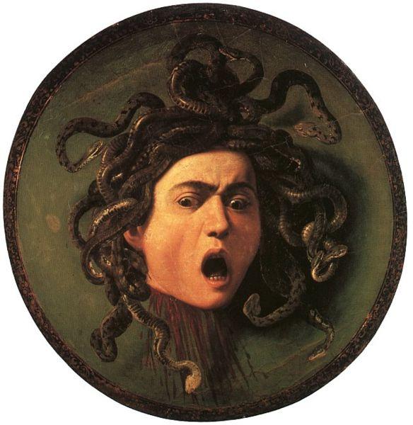 Caravaggio: Medusa (1597), Galleria degli Uffizi, Firenze