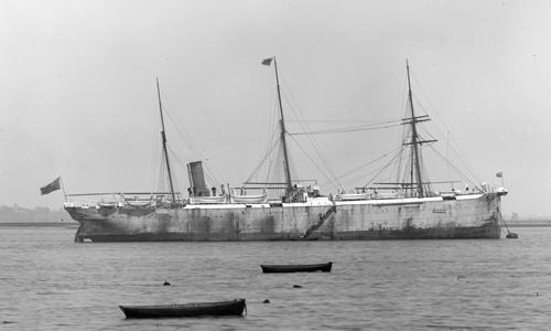 World's first purpose-built Cable Layer Ship Silvertown, 1901