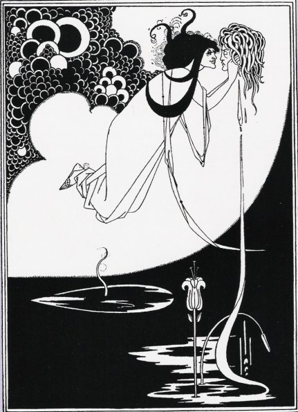 "Aubrey Beardsley: The Apotheosis, Illustration for Salome by Oscar Wilde, published in ""The Studio"", Vol. 1, No. 1, 1893."