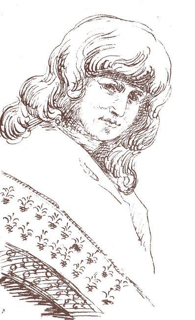 Christiane Vulpius, drawn by Goethe