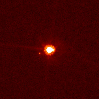 Dwarf planet Eris and its moon Dysnomia