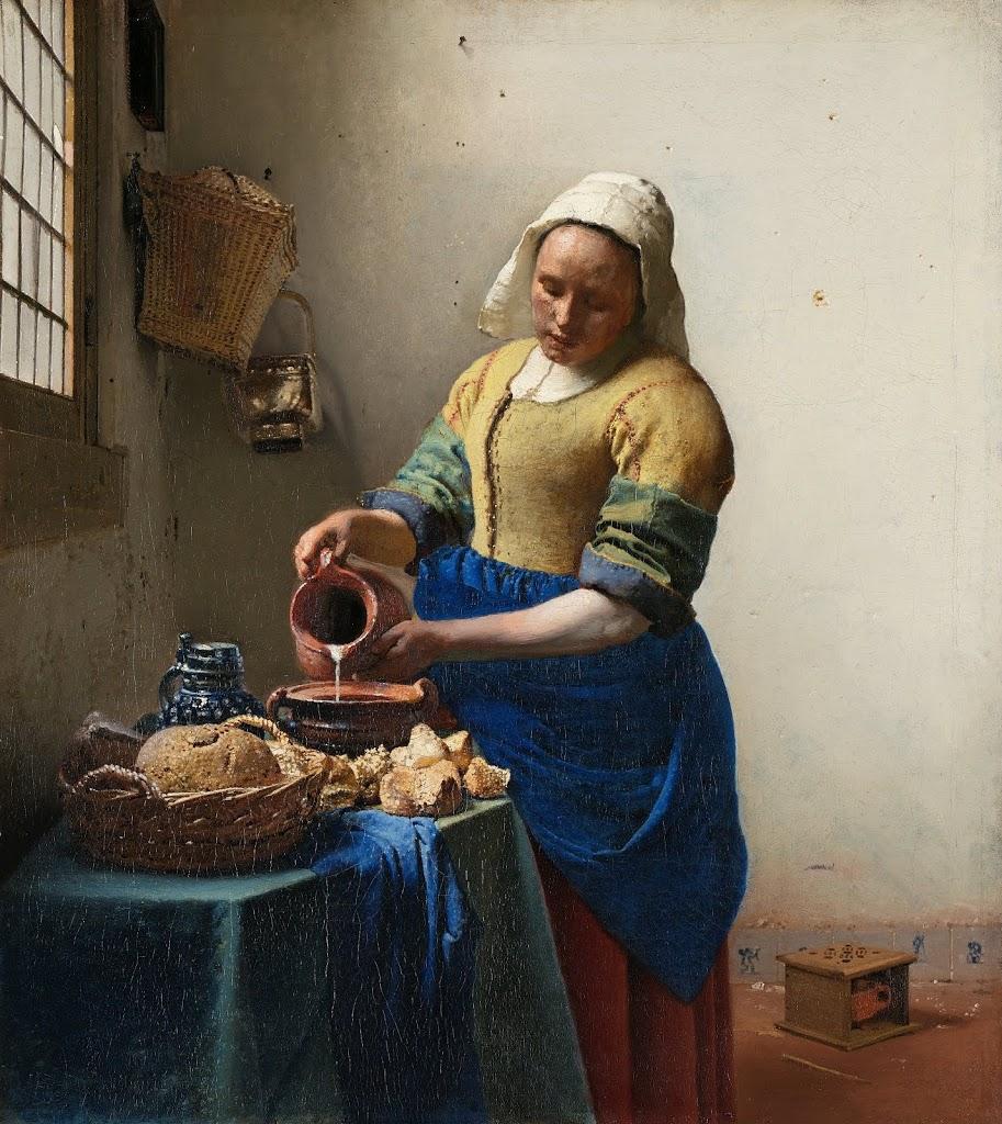 The Milkmaid by Johannes Vermeer, 1660