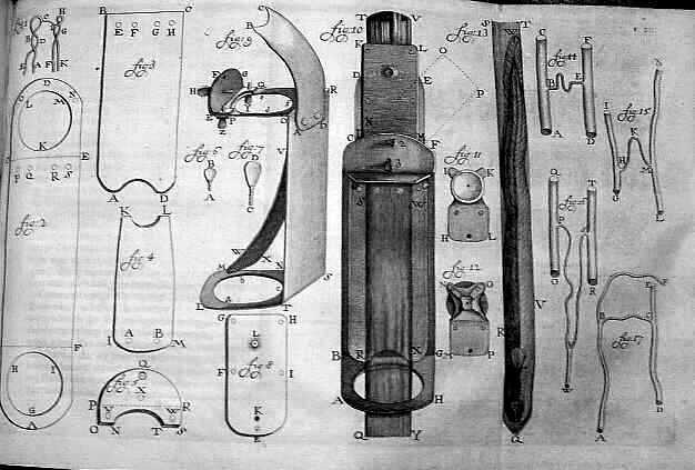 Antonie van Leeuwenhoek's microscopes by Henry Baker