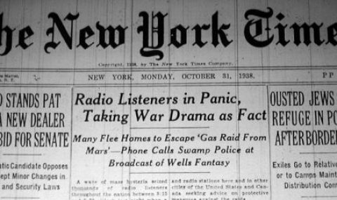Orson Welles  and the 1938 Radio Show Panic