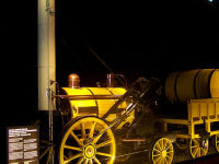 Stephenson's Rocket wins the Rainhill Trials