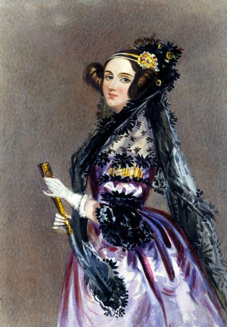 Watercolor portrait of Ada King, Countess of Lovelace, circa 1840, possibly by Alfred Edward Chalon