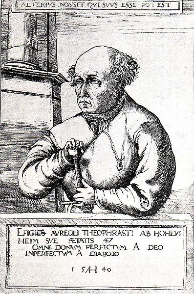 Copperplate Depiction of Paracelsus