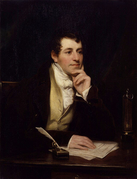Sir Humphry Davy (1778 - 1829) Painting by Thomas Phillips