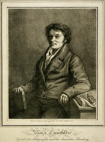 Alois Senefelder (1771-1834), Lithographic Portrait, 1818