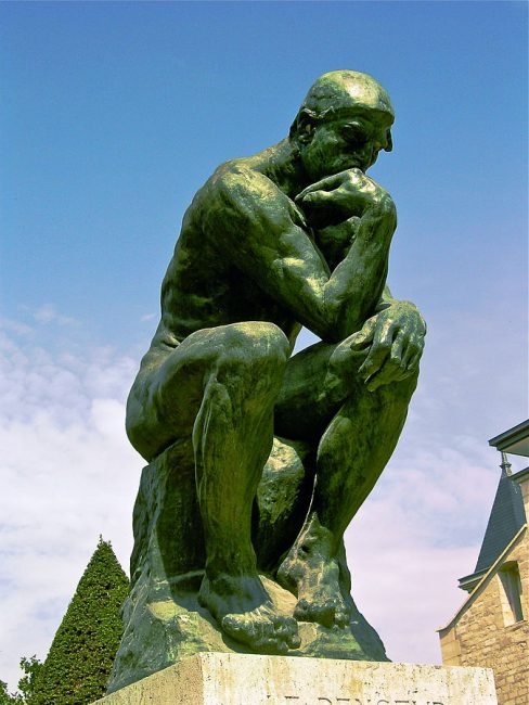 The Thinker by Rodin located at the Musée Rodin in Paris