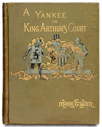 Cover of the book «A Connecticut Yankee in King Arthur's Court» by Mark Twain, 1889