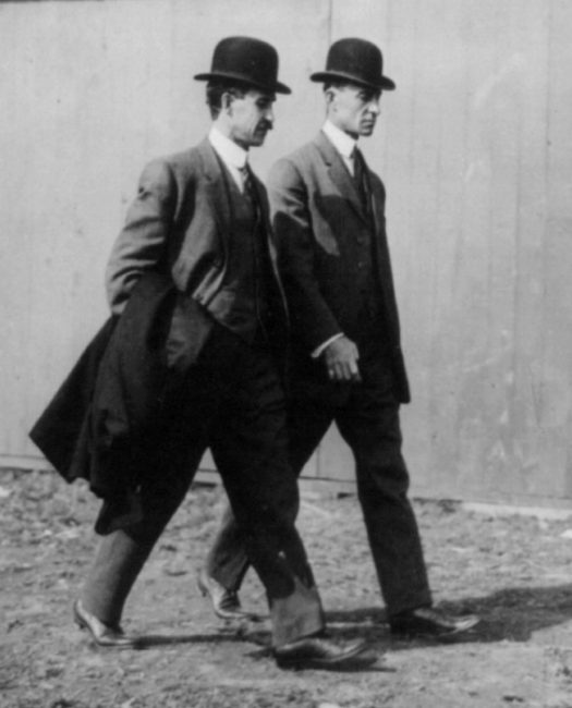 Wright brothers at the Belmont Park Aviation Meet in 1910