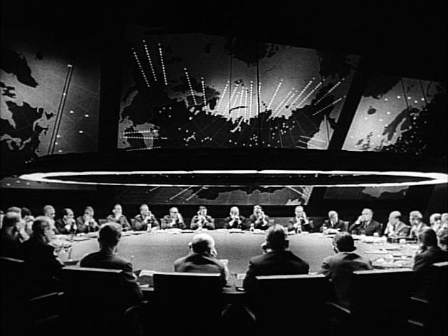 The War Room with the Big Board from Stanley Kubrick's 1964 film, Dr. Strangelove