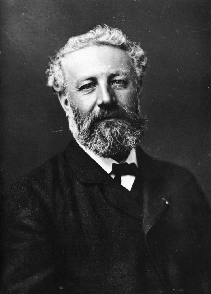 Restored photograph of Jules Verne by Félix Nadar circa 1878.