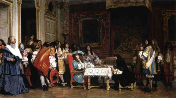 Louis XIV invites Molière to share his supper—an unfounded Romantic anecdote, illustrated in 1863 painting by Jean-Léon Gérôme