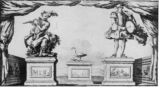 Three of Jacques de Vaucanson's automata: the Flute Player, the Digesting Duck and the Tambourine Player