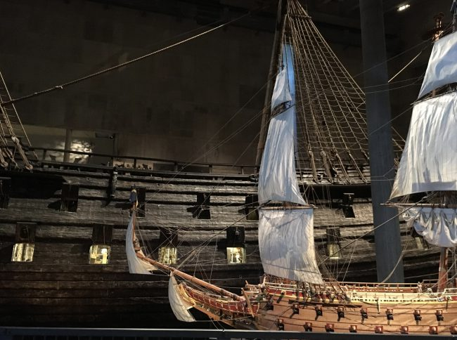 The Vasa - Original and small scale model, in the Vasa Museum, Stockholm, photo: lysander07