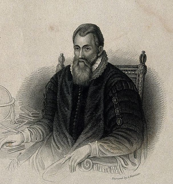 John Napier (1550 - 1617), Stipple engraving by S. Freeman.
