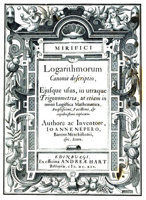 Cover of Mirifici logarithmorum canonis descriptio (1614)