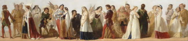 Procession of Characters from Shakespeare's Plays by an unknown 19th-century artist