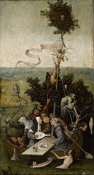 Hieronymus Bosch, Ship of Fools (painted c. 1490–1500)