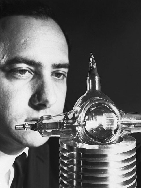 Maiman with his laser in July 1960